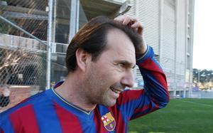 Jesús Mariano Angoy, en un partido de veteranos en 2010