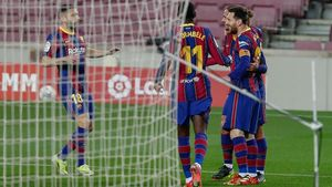 Celebración gol de Messi ante el Huesca