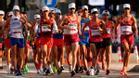 Los atletas españoles, en la prueba de marcha en Japón