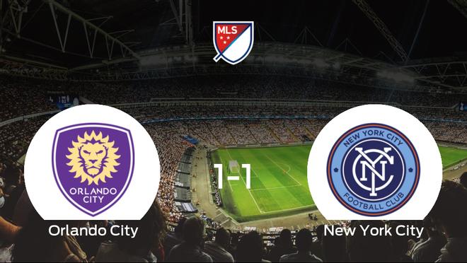 El Orlando City y el New York City concluyen su encuentro liguero con un empate (1-1)