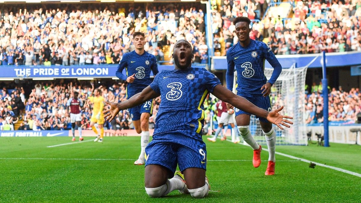 Lukaku celebrando su primer gol