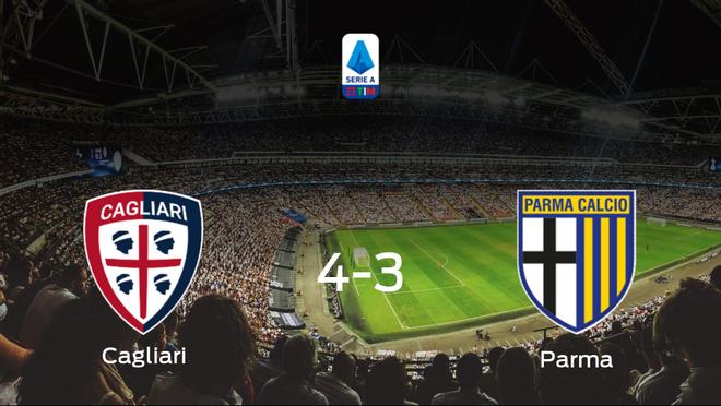 El Cagliari vence 4-3 al Parma y se lleva los tres puntos