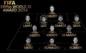 La FIFA entregó el premio al mejor once del año 2014