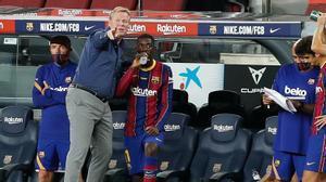 Koeman: Dembélé tiene mucha calidad
