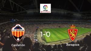 Victoria del Castellón por la mínima ante el Real Zaragoza (1-0)