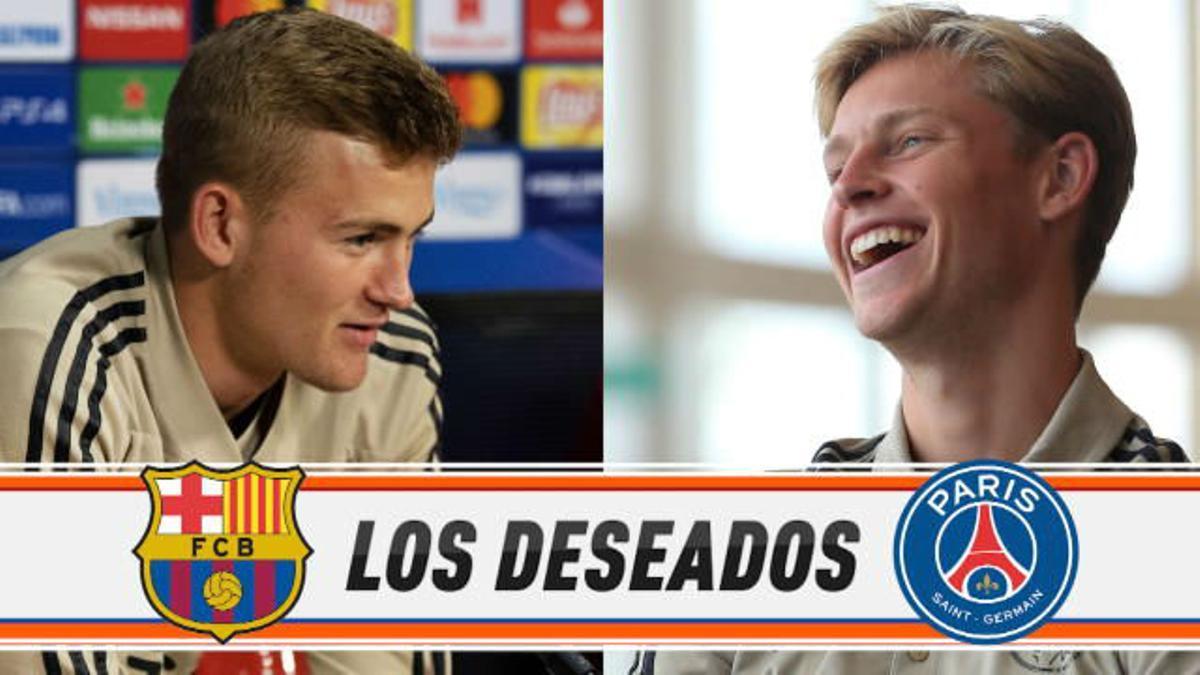 De Jong y De Ligt, los deseados por Barça y PSG