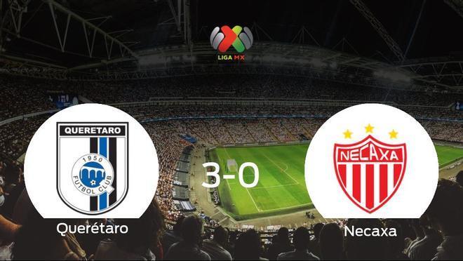 Tres puntos para el casillero del Querétaro tras pasar por encima del Necaxa (3-0)