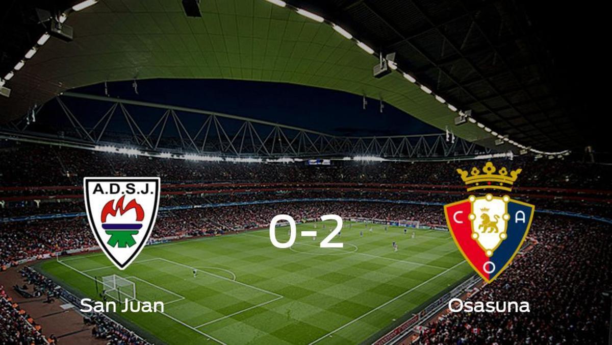 Osasuna Promesas se queda con los tres puntos después de derrotar 0-2 al San Juan DKE
