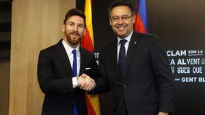Bartomeu y Messi, en una imagen de archivo