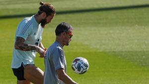España prepara el encuentro frente a Suiza