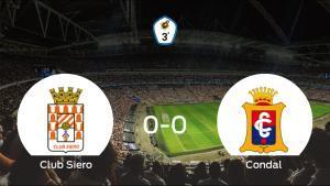 El Club Siero y el Condal firman un empate sin goles (0-0)