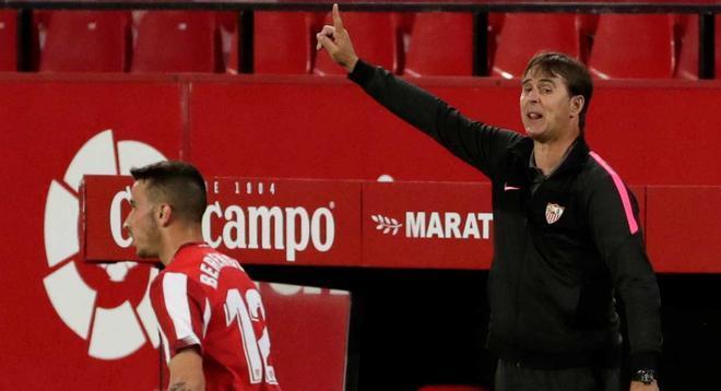 Lopetegui, durante el encuentro frente al Athletic.