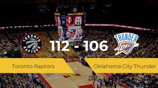 Toronto Raptors se impone por 112-106 frente a Oklahoma City Thunder