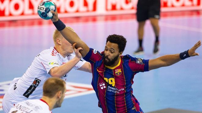 Imagen del duelo entre Barça y Aalborg de la fase de grupos