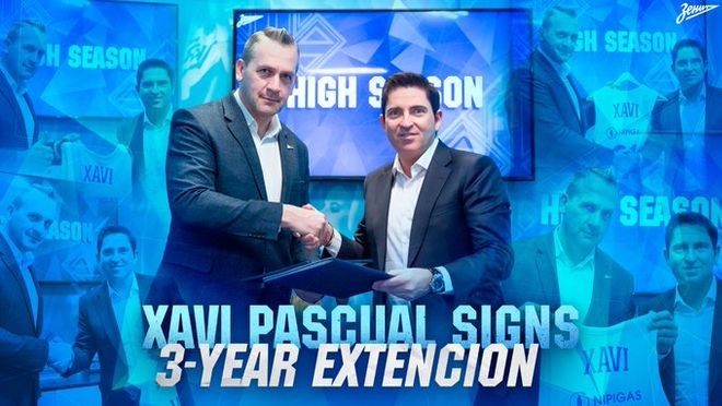 Xavi Pascual firma tres temporadas con el Zenit