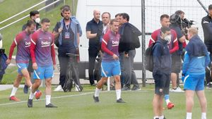 Las mejores imágenes del entrenamiento de hoy del Barça en Salzburgo