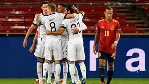 Alemania en el empate ante España.
