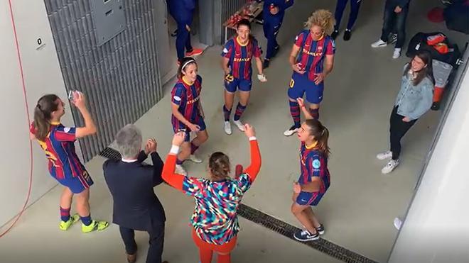 ¡Risas y bailes! Así celebró el Barça el pase a la final de la Champions League