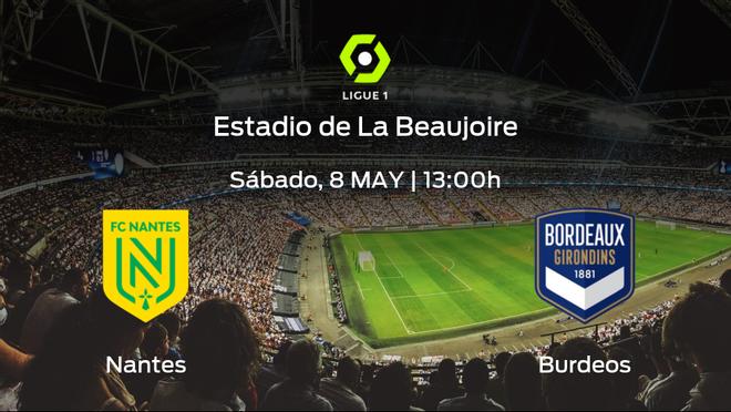 Previa del encuentro: el FC Nantes recibe al FC Girondins Burdeos