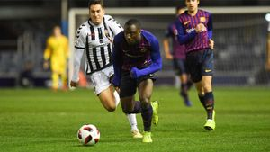Ballou Tabla, en un partido del Barça B