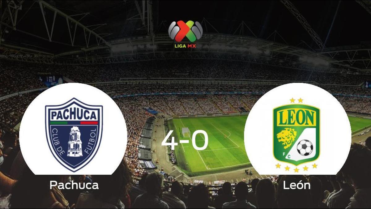 El Pachuca se lleva la victoria tras golear 4-0 al León