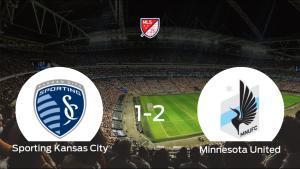 El Minnesota United se lleva tres puntos después de vencer 1-2 al Sporting Kansas City