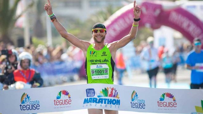Jaume Leiva, en una imagen del Lanzarote International Marathon 2018