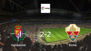 Victory beyond reach for Real Valladolid, as they only manage a 2-2 draw with Elche