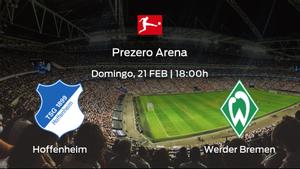 Jornada 22 de la Bundesliga: previa del partido Hoffenheim - Werder Bremen