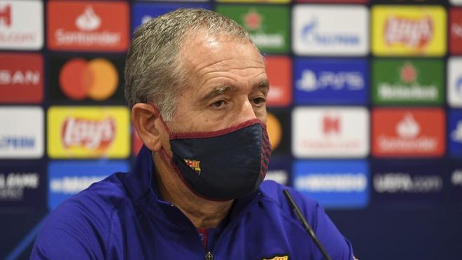 Andreu Plaza, hasta ahora entrenador del Barcelona de fútbol sala.