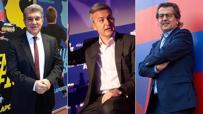 Laporta, Font y Freixa, los candidatos a la presidencia del Barça