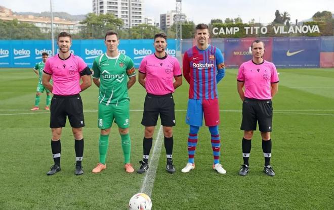 Partido de entrenamiento entre Barça y Cornellá