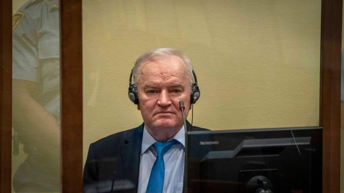 Ratko Mladic, durante la apelación en La Haya