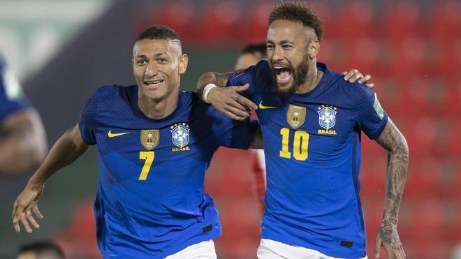 Richarlison y Neymar Jr. volverán a formar parte del ataque brasileño