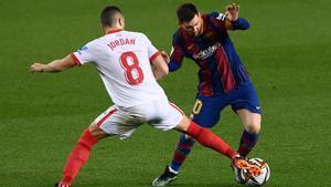 El 1x1 del Barça ante el Sevilla en el descanso
