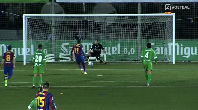 Dembélé marró el segundo penalti del partido