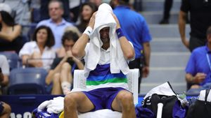 Djokovic llorando cuando ya veía la final perdida