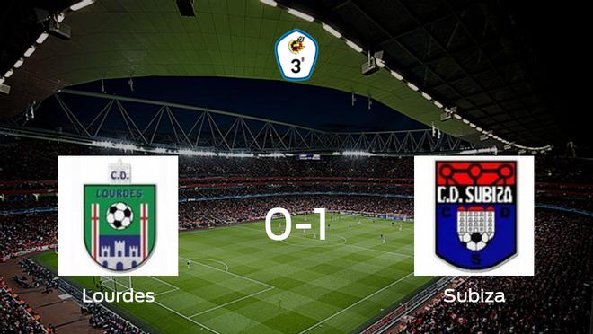 El Subiza gana 0-1 al Lourdes y se lleva los tres puntos