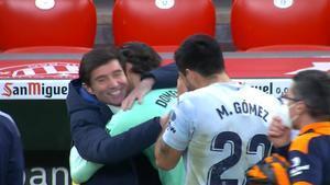 Marcelino se reencontró con los jugadores del Valencia