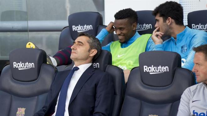 Ernesto Valverde no está cuestionado por la afición del FC Barcelona