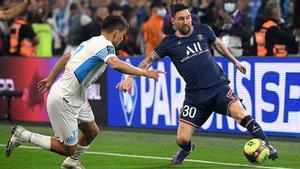 Messi está disputando el clásico francés ante el Olympique de Marsella