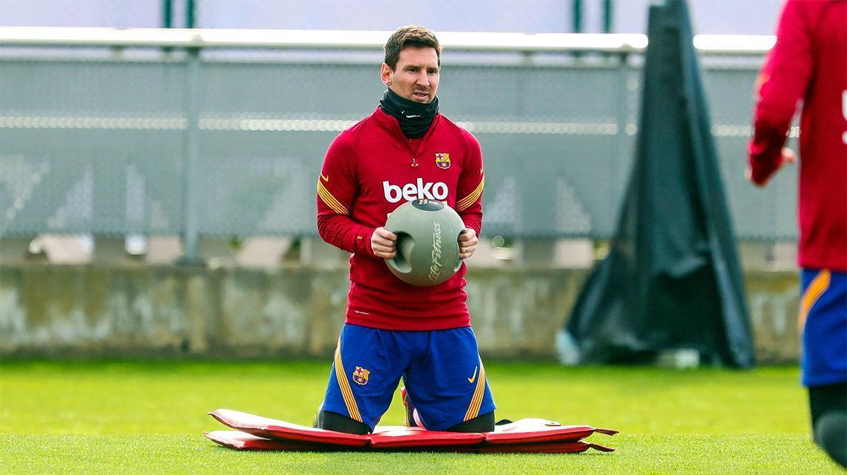 El Barcelona prepara su partido contra el Levante
