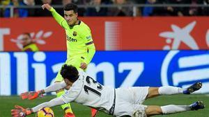 Coutinho continúa con su mala racha ante el Girona