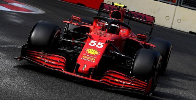 Carlos Sainz este domingo el Gran Premio de Azerbaiyán