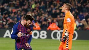 Jordi Masip, en una imagen junto a Leo Messi