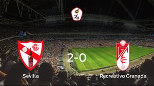 El Sevilla At. consigue la victoria en casa frente al Recreativo Granada (2-0)
