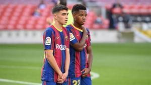 Ansu y Pedri, dos piezas ya capitales para el FC Barcelona