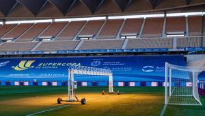 Los preparativos para la final de la Supercopa de España