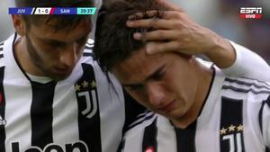 Dybala se retira entre lágrimas de Juventus-Sampdoria por una lesión muscular