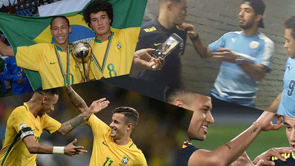 Coutinho y Neymar, inseparables en la selección